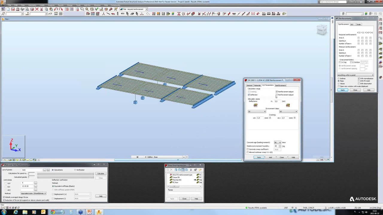 RC Design - workflows slabs, walls and wall foundations design - YouTube