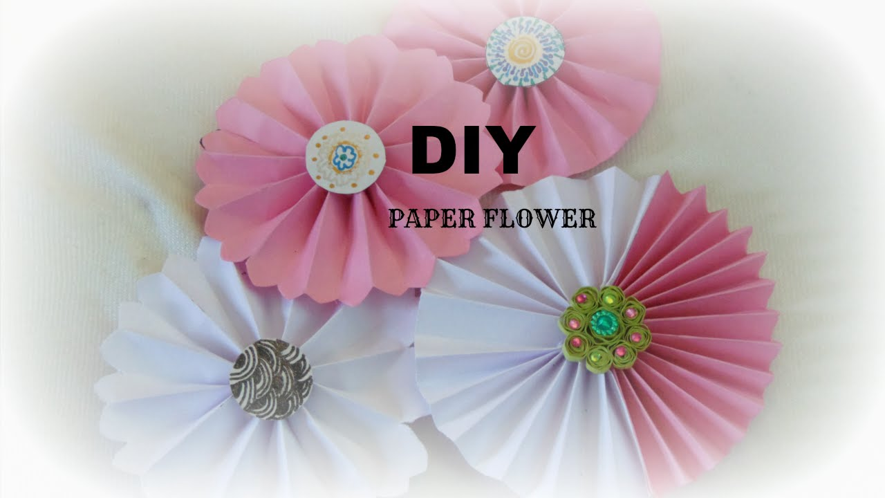 Paper craft how to make paper rosettes flower easy simple diy in paper craft how to make paper rosettes flower easy simple diy in 5 min wall hanging youtube mightylinksfo Choice Image