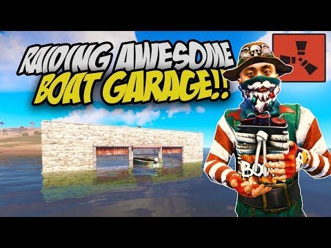 RAIDING AWESOME BOAT GARAGE! - Rust Solo Survival Gameplay