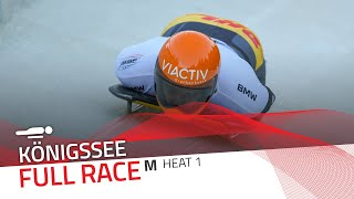 Königssee | BMW IBSF World Cup 2020/2021 - Men's Skeleton Heat 1 | IBSF Official