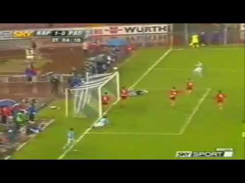 Highlights Napoli - Padova 2-1 - Serie C1 Girone B 2004-2005 - Sosa al 91°