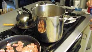 How To Make Pinto Beans, Green Chili Stew,  Bacon N Cheese Cornbread