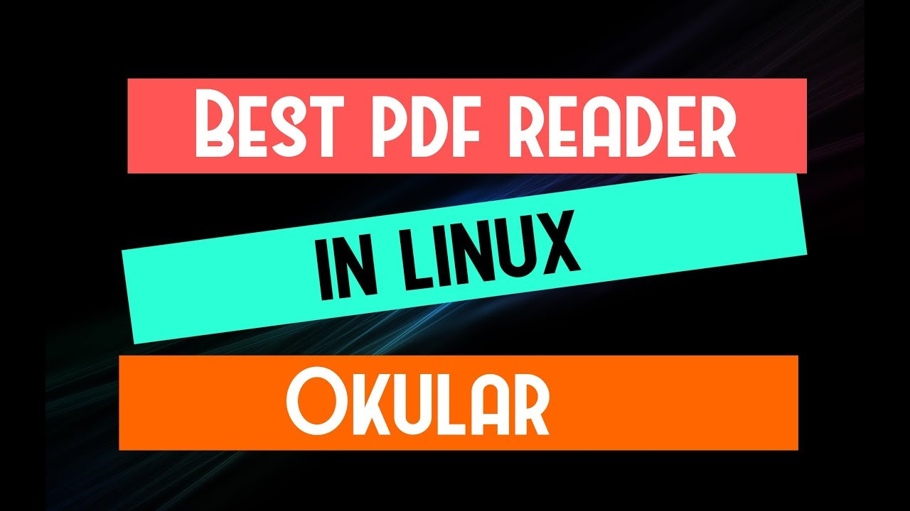 Linux okular pdf