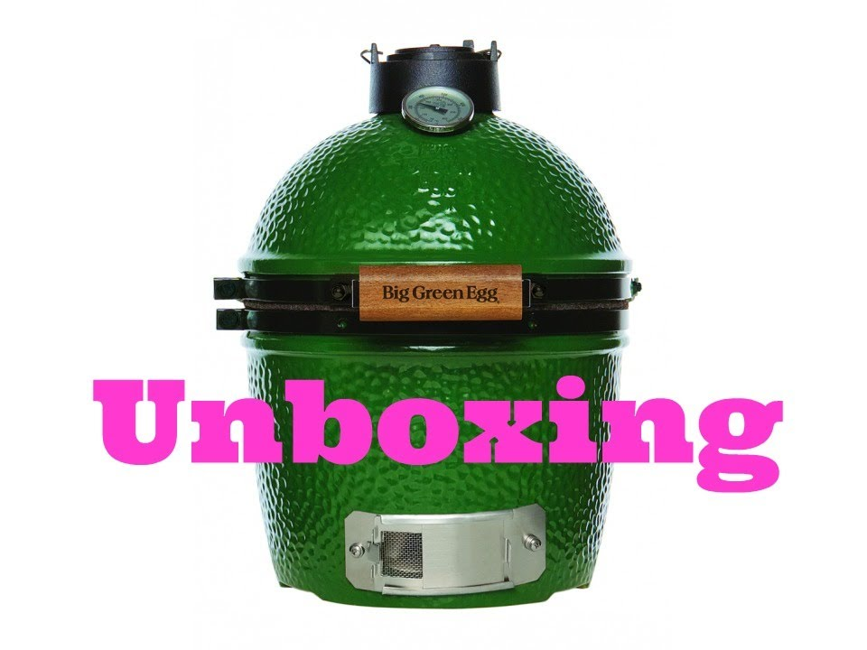 unboxing and assembly of the mini big green egg. Black Bedroom Furniture Sets. Home Design Ideas
