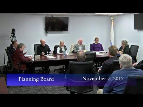 Planning Board, November 7, 2017