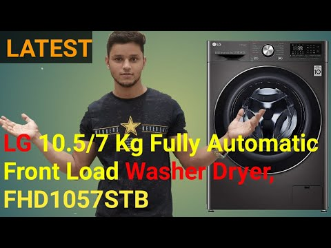 LG 10.5/7 Kg Fully Automatic Front Load Washer Dryer, FHD1057STB