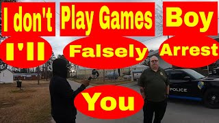 """I DON'T PLAY GAMES BOY"" ""I'll falsely arrest you"" **WAIT WHAT** 1st amendment audit"