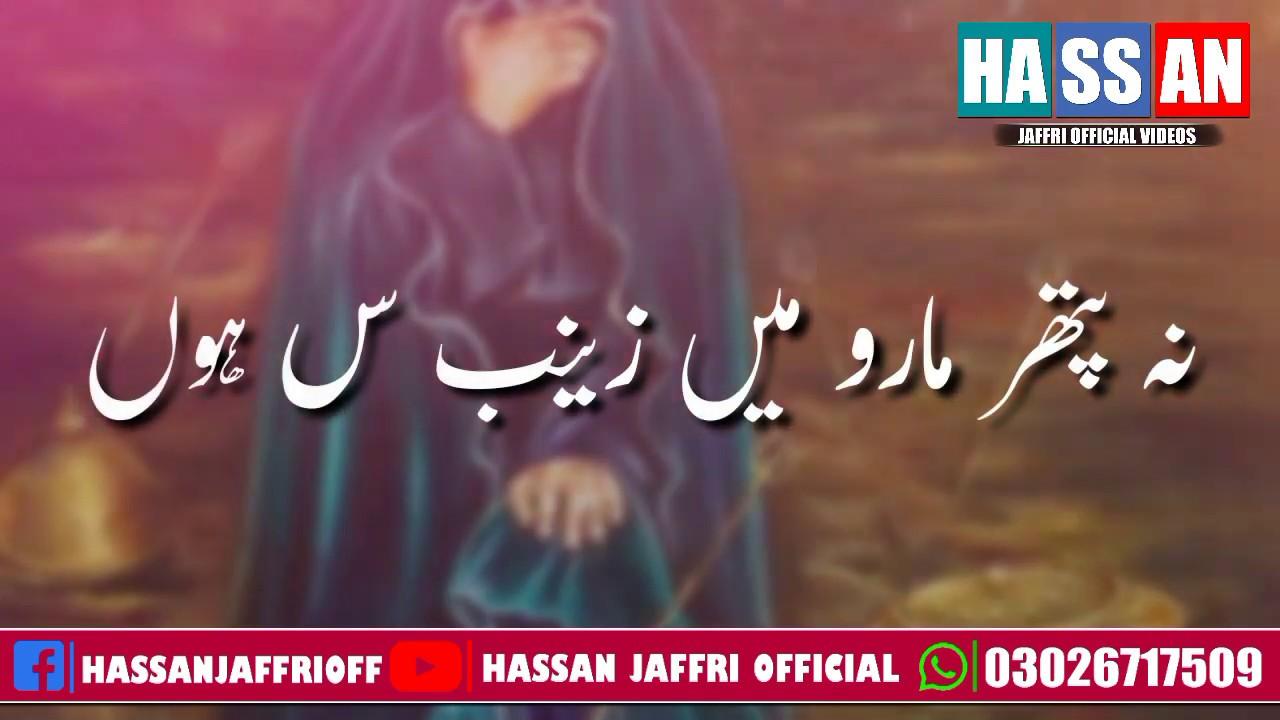 Hassan Sadiq | Noha Whatsapp Status 2020 | Na Pathar Maro Mein Zainab sa Hoon | Muharram Nohay 2020