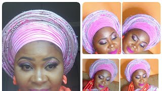 AFRICAN INSPIRED BRIDAL GELE TUTORIAL