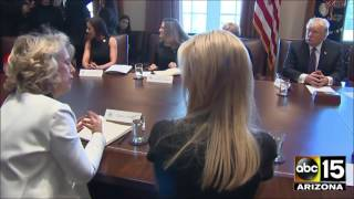 President Trump roundtable discussion with Prime Minister Trudeau & women entrepreneurs