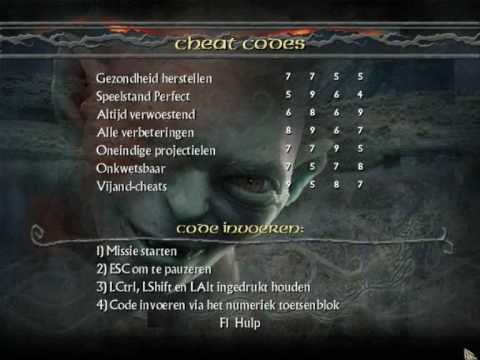 Lord Of The Rings Return Of The King Game Cheats
