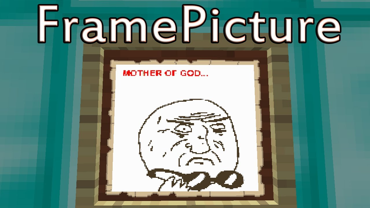 Minecraft: FramePicture - Load any picture onto frames! - YouTube