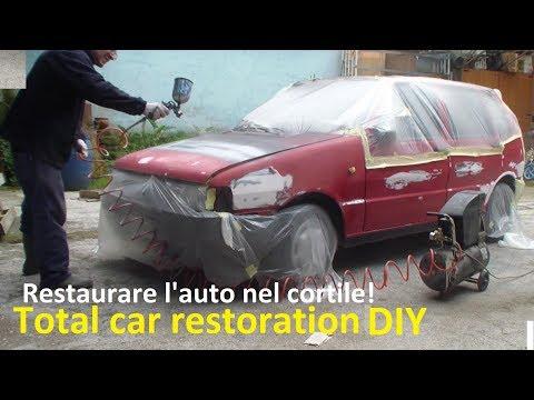 Restaurare un'auto da soli(2° Parte-LA VERNICIATURA)- DIY,Classic car restoration(Part 2°-PAINTING)