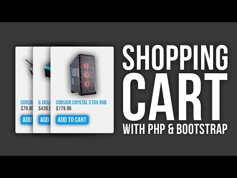 Responsive PHP Shopping Cart With Bootstrap Tutorial