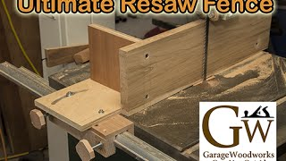 Build a resaw fence for your bandsaw. Adjusts for drift. Alignment jigs : http://www.garagewoodworks.com/Alignment.php Plans for