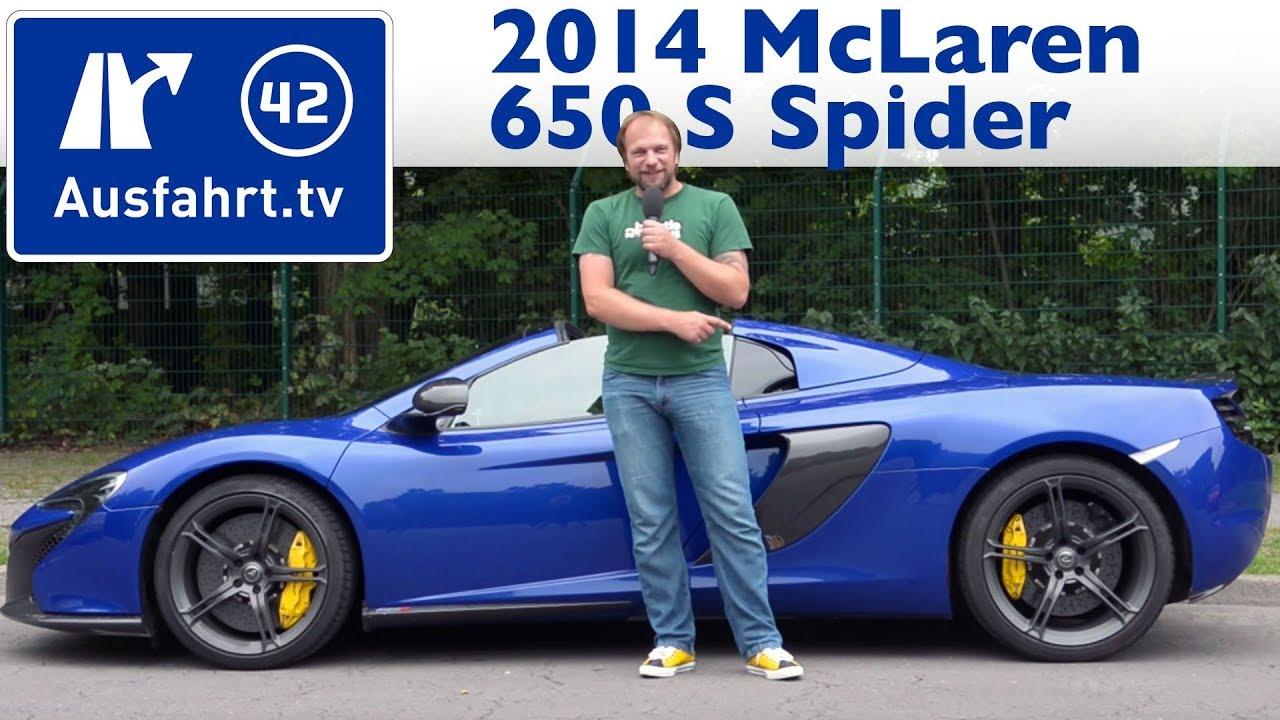 2014 mclaren 650 s spider - kaufberatung, test, review - youtube