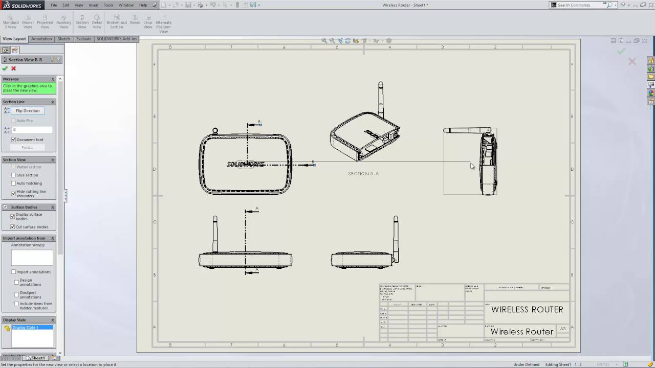 How To Create An Isometric Section View In SOLIDWORKS
