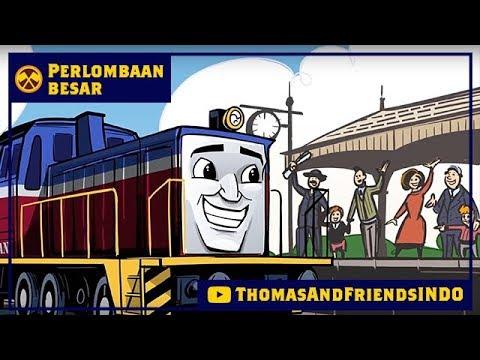 Kereta Thomas & Friends Bahasa Indonesia - Perlombaan Besar Dekat & Jauh - Frieda