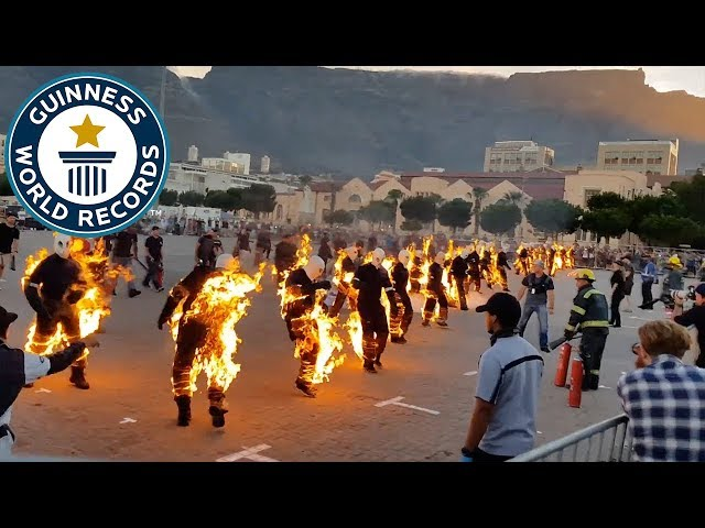 Most people performing full body burns – Guinness World Records