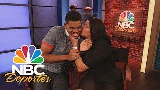 Karl-Anthony Towns se apenó cuando su mamá le dio un beso | NBC Deportes | NBC Deportes