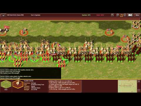 Field of Glory   Classical Spartans vs  Later Hoplite Greeks
