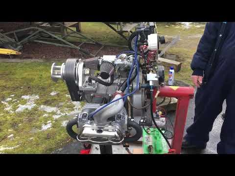 VW aircraft engine running