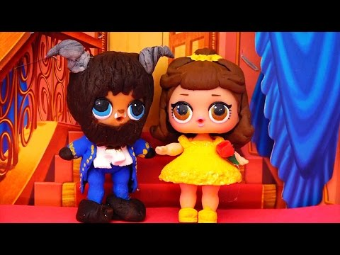 LOL Dolls Turn Into Beauty & the Beast ! Toys and Dolls Fun Playing with LOL Customs | SWTAD