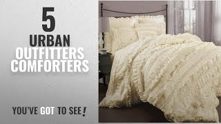 Top 10 Urban Outfitters Comforters  [2018]: Lush Decor Belle 4 Piece Comforter Set, Queen, Ivory