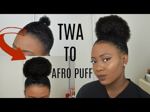 Fake It Till You Make It - Go From TWA PUFF TO A LARGE AFRO PUFF IN 2 MINS | SHORT NATURAL 4C HAIR !