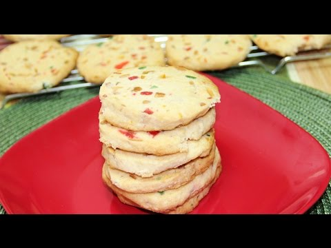 Christmas Shortbread Tutti Fruitti Cookies Video Recipe by Bhavna