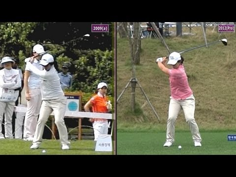 [Slow Mo] KIM Sei-Young 2009 vs 2012 Dual View Driver Golf Swing_KLPGA