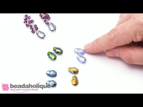 Show and Tell: Swarovski Crystal Scarab Beads in 2X AB Finishes