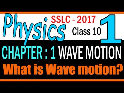 PHYSICS| free| Understand what is wave motion|STD 10| Chapter 1 Wave motion|| PART 1KERALA