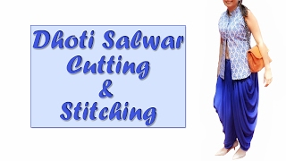 Dhoti Salwaar Cutting & Stitching | How ...