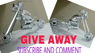 DIY Toy Motorcycle Showpiece | How To Make A Toy Motorcycle Showpiece |#Pawan Kharde