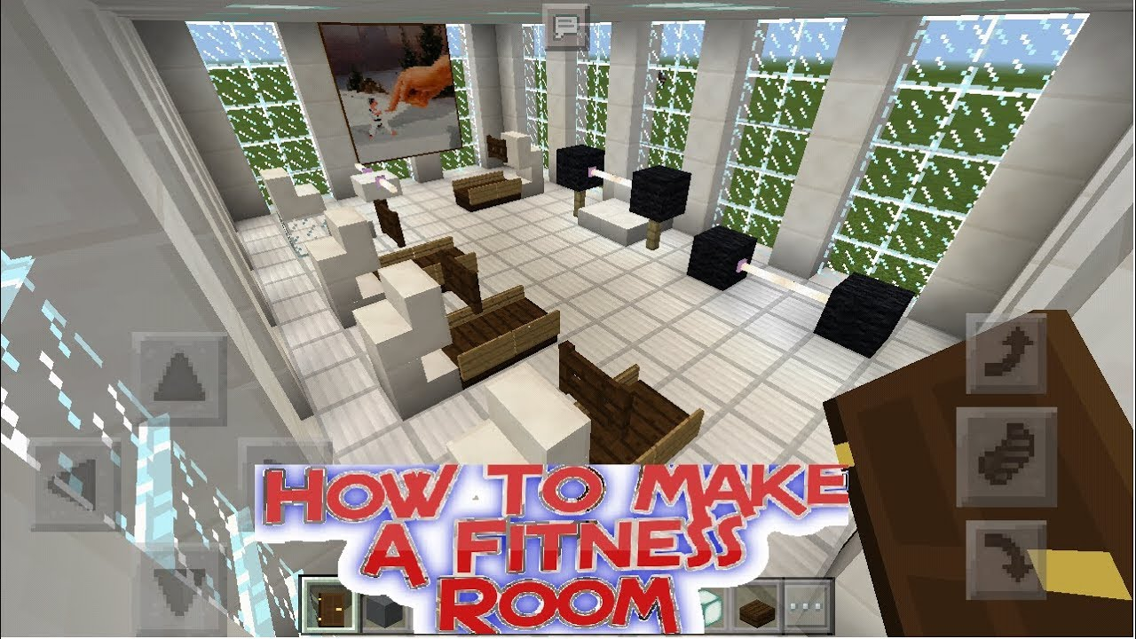 Minecraft pe how to make a fitness room gym youtube
