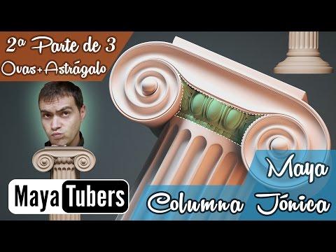 Modelar la Columna Jónica con Autodesk Maya? 02/03 Tutoriales 3D Maya Español - MayaTubers