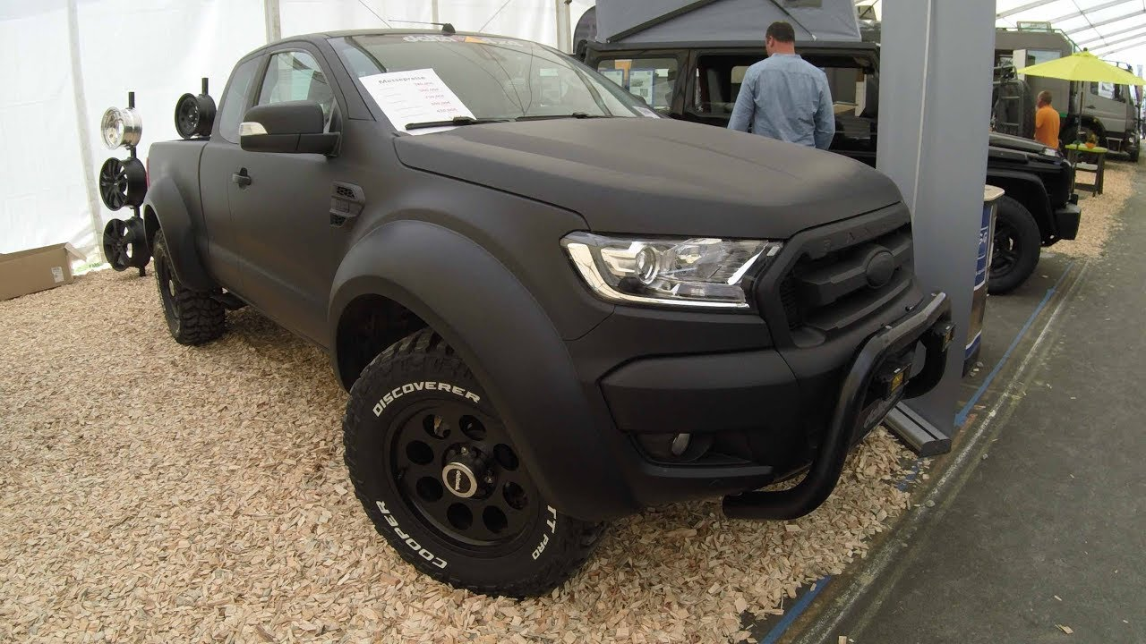 Auto Vinyl Wrap >> FORD RANGER MATTE BLACK PICK-UP 4X4 ! NEW MODEL 2017 ! TUNING SHOWCAR BY DELTA ! WALKAROUND ...