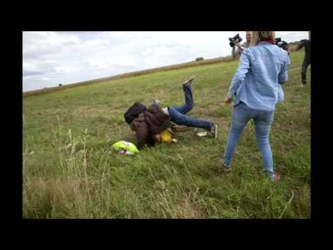 Hungary migrant trip camerawoman fired