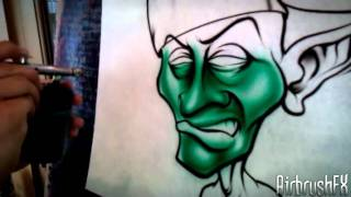 How to airbrush a Goblin with Pete V.