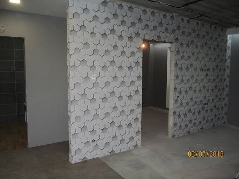 Обзор обоев для гостиной и оклейка стен моими руками.