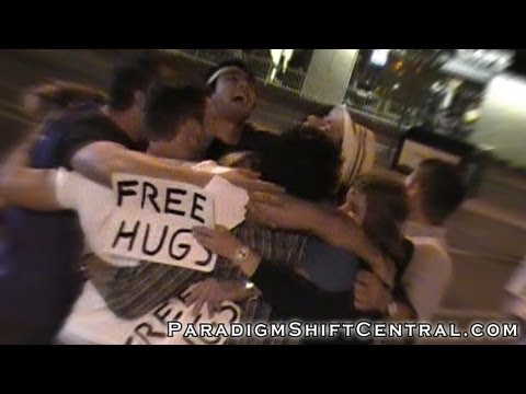 Love is Viral. FREE HUGS CAN CHANGE THE WORLD