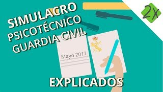 Test psicotécnico Guardia Civil resuelto y explicado