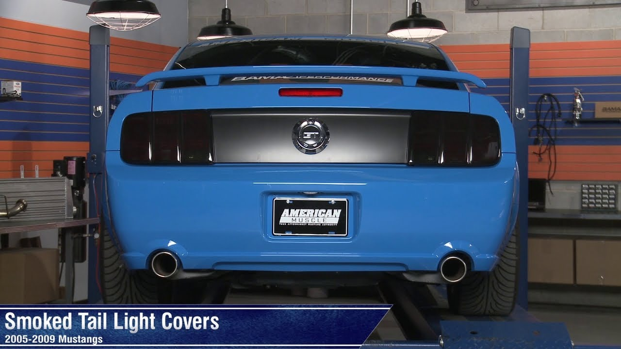 Mustang Smoked Tail Light Covers 05 09 All Review Youtube