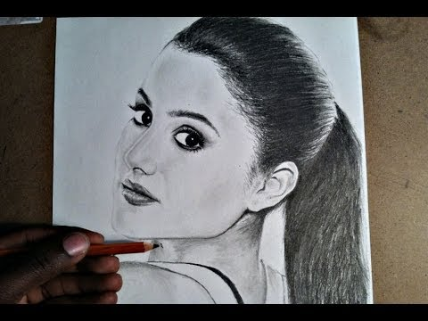 How to draw ariana grande for beginners youtube