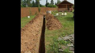видео Прокладка наружной канализации: укладка труб и сетей на участке, размеры