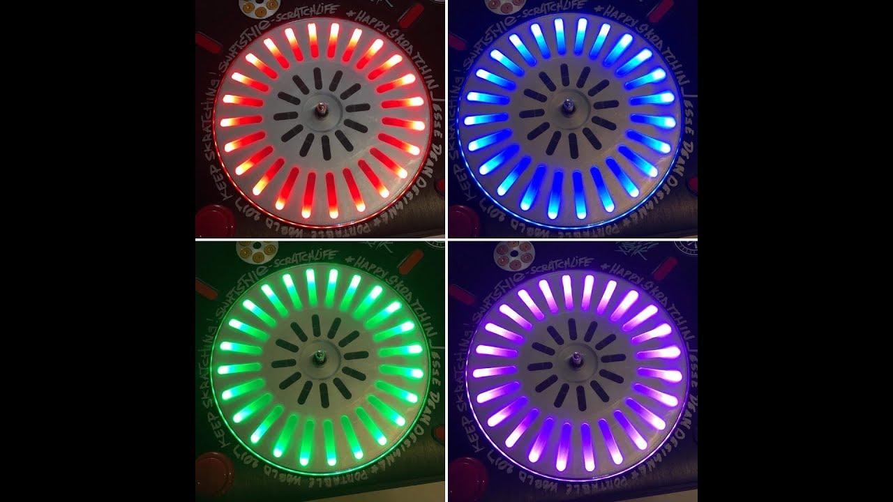 Platter LED Backlight And Internal Powerbank Battery Mod for Numark PT01 /  PT01 Scratch