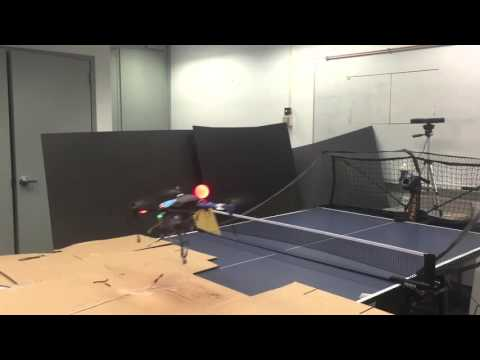 Drone-playing ping pong at IBM Research