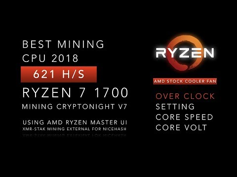 Ryzen 7 1700 Cpu Mining  Safe Overclocking