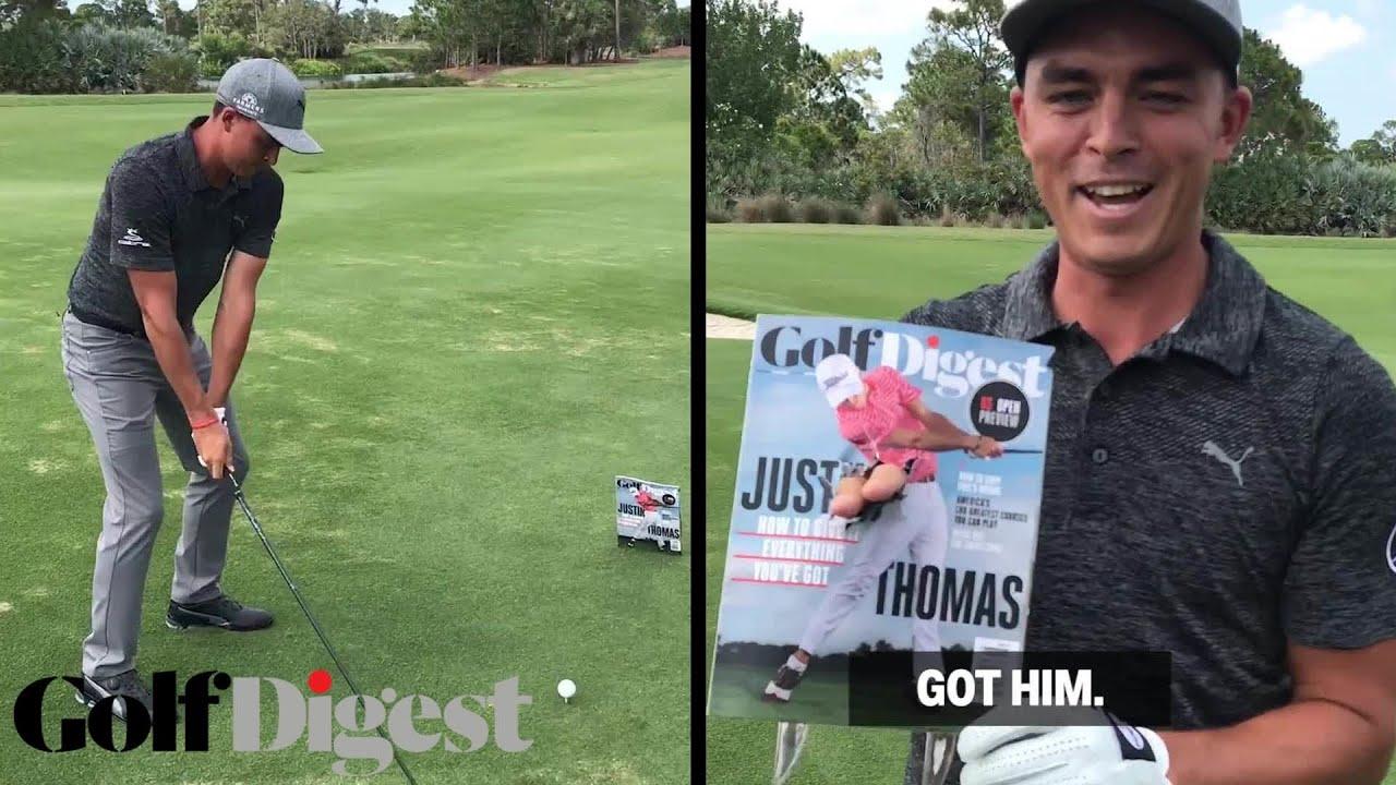uk myymälä tukku verkossa Yhdistynyt kuningaskunta Rickie Fowler Drives a Hole Through Justin Thomas' Golf Digest Cover